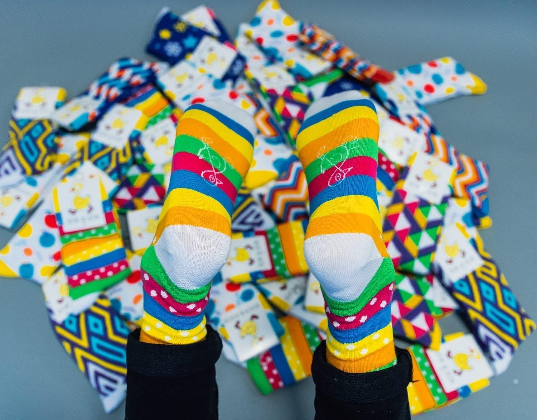 vrolijke sokken,